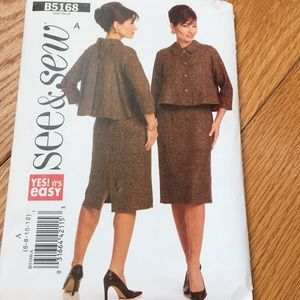 Dress w/jacket sewing pattern